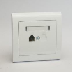 AURA Gniazdo telefoniczne RJ11 pojedyncze kolor biały (GPT-1U.BI)