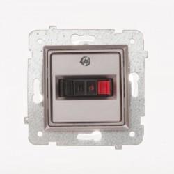 ROSA Gniazdo głośnikowe pojedyncze bez ramki, kolor tytanowy metalik GG-1Q/M.TY