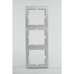 AURA Ramka potrójna pionowa kolor biały (R-3UV.BI)