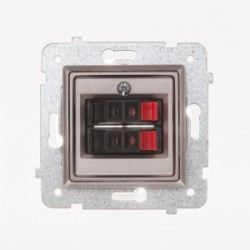 ROSA Gniazdo głośnikowe podwójne bez ramki, kolor tytanowy metalik GG-2Q/M.TY