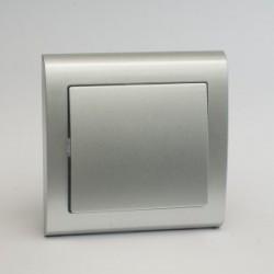 AURA Łącznik pojedynczy (jednobiegunowy) kolor srebro (ŁP-1U.SR)