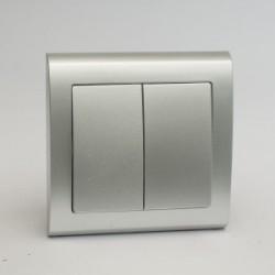 AURA Łącznik podwójny (świecznikowy) kolor srebro (ŁP-2U.SR)