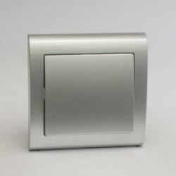 AURA Przycisk światło kolor srebro (ŁP-5U.SR)