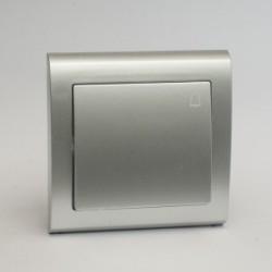 AURA Przycisk dzwonek kolor srebro (ŁP-6U.SR)