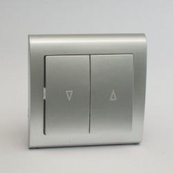 AURA Przycisk żaluzjowy kolor srebro (ŁP-7U.SR)