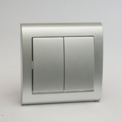 AURA Łącznik podwójny (świecznikowy) z podświetleniem kolor srebro (ŁP-2US.SR)