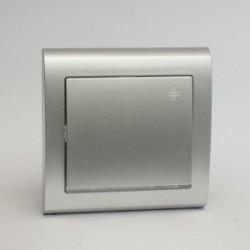 AURA Łącznik krzyżowy z podświetleniem kolor srebro (ŁP-4US.SR)