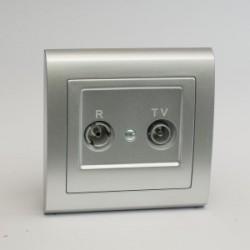 AURA Gniazdo antenowe R-TV końcowe kolor srebro (GPA-UK.SR)