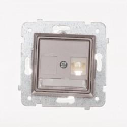 ROSA Gniazdo komputerowe RJ45 pojedyncze kat. 5e bez ramki, kolor tytanowy metalik GPK-1Q/F/M.TY