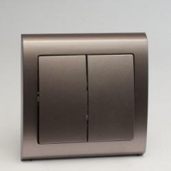 AURA Łącznik podwójny (świecznikowy) kolor tytan (ŁP-2U.TY)