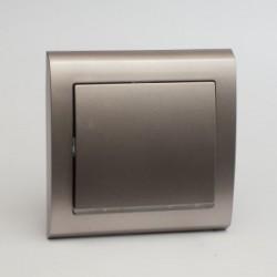 AURA Łącznik pojedynczy (jednobiegunowy) z podświetleniem kolor tytan (ŁP-1US.TY)