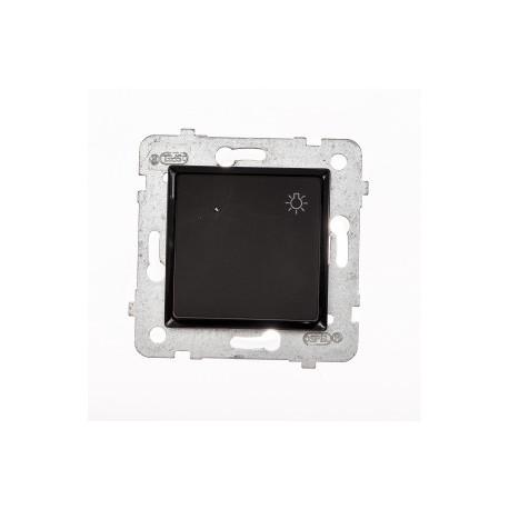 ROSA Przycisk światło bez ramki, kolor czarny mat ŁP-5Q/M.CZ