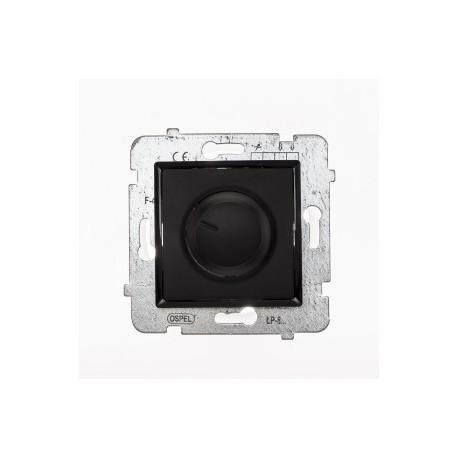 ROSA Ściemniacz przyciskowo-obrotowy bez ramki, kolor czarny mat ŁP-8Q/M.CZ