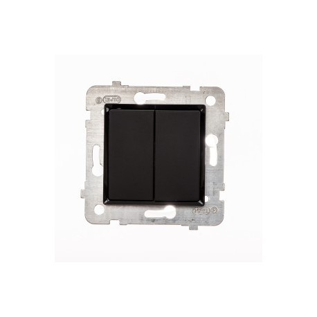ROSA Przycisk podwójny bez ramki, kolor czarny mat ŁP-17Q/M.CZ
