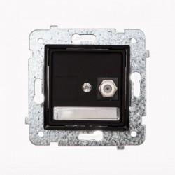 ROSA Gniazdo antenowe pojedyncze typu F bez ramki, kolor czarny mat GPA-1Q/M.CZ