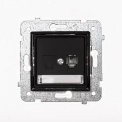 ROSA Gniazdo telefoniczne RJ11 pojedyncze bez ramki, kolor czarny mat GPT-1Q/M.CZ