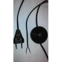 Przewód przyłączeniowy z wtyczką płaską i łącznikiem nożnym OMYp 2x0,75 1,6m kolor czarny