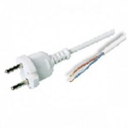 Przewód przyłączeniowy w osłonie polwinitowej OMY2x1 1,9m kolor biały