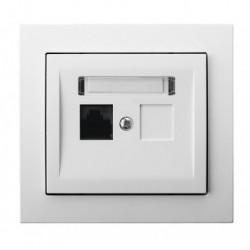 KIER Gniazdo komputerowe pojedyncze, kat. 5eMMC, kolor biały GPK-1W/K/00