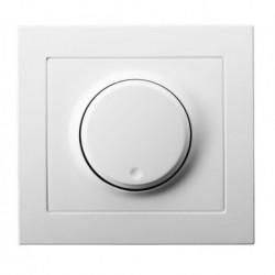 KIER Ściemniacz przyciskowo-obrotowy przystosowany do obciążenia żarowego i halogenowego, kolor biały ŁP-8W/00