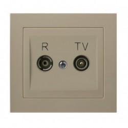 KIER Gniazdo RTV przelotowe 10-dB, kolor beżowy GPA-10WP/01