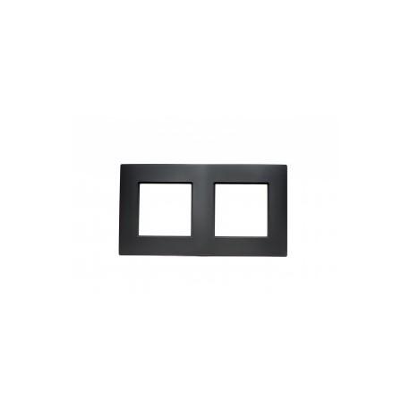 ROSA Ramka podwójna uniwersalna, kolor czarny mat
