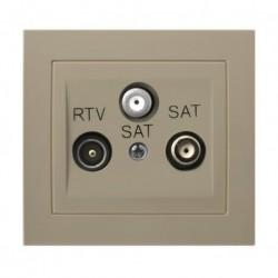 KIER Gniazdo RTV-SAT z dwoma wyjściami SAT, kolor beżowy GPA-W2S/01