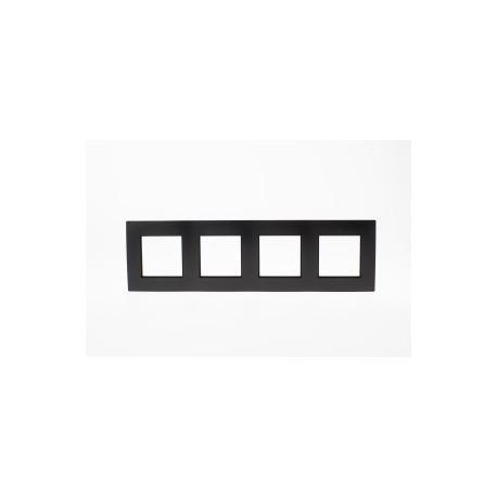ROSA Ramka poczwórna uniwersalna, kolor czarny mat
