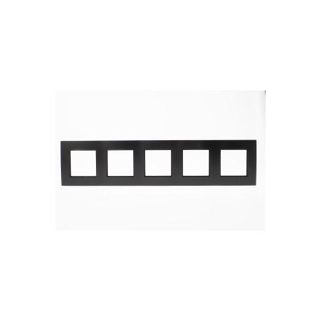 ROSA Ramka pięciokrotna uniwersalna, kolor czarny mat