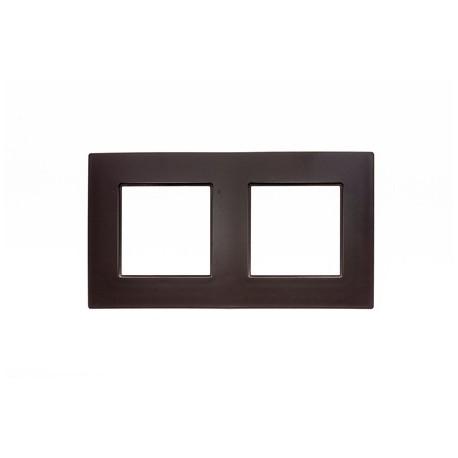 ROSA Ramka podwójna uniwersalna, kolor czekoladowy mat