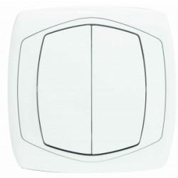 COMFORT Łącznik podwójny (świecznikowy) kolor biały kolor biały (ŁP-2X.BI)