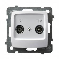 KARO Gniazdo RTV przelotowe 10-dB, bez ramki, kolor biały GPA-10SP/m/00