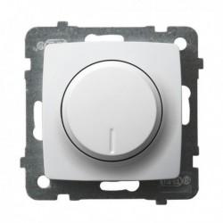 KARO Ściemniacz przyciskowo-obrotowy przystosowany do obciążenia żarowego i halogenowego, bez ramki, kolor biały ŁP-8S/m/00