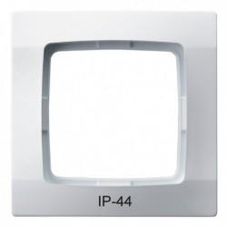 KARO Ramka pojedyncza do łączników IP-44, kolor biały RH-1S/00