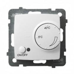 KARO Regulator temperatury z czujnikiem napowietrznym, bez ramki, kolor biały RTP-1SN/m/00