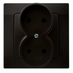 KARO Gniazdo podwójne, kolor czekoladowy metalik GP-2S/40 (sprzedawane w całości)