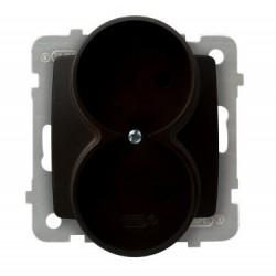 KARO Gniazdo podwójne, bez ramki, kolor czekoladowy metalik GP-2SR/m/40