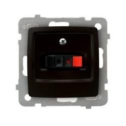 KARO Gniazdo głośnikowe pojedyncze, bez ramki, kolor czekoladowy metalik GG-1S/m/40