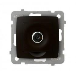 KARO Ściemniacz elektroniczny sterowany pilotem lub dotykiem, bez ramki, kolor czekoladowy metalik ŁP-8SE/m/40