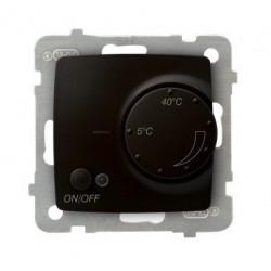 KARO Regulator temperatury z czujnikiem podpodłogowym, bez ramki, kolor czekoladowy metalik RTP-1S/m/40