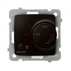 KARO Regulator temperatury z czujnikiem napowietrznym, bez ramki, kolor czekoladowy metalik RTP-1SN/m/40