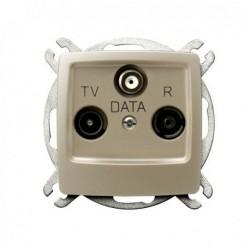 KARO Gniazdo RTV-DATA, bez ramki, kolor ecru perłowy GPA-SD/m/42