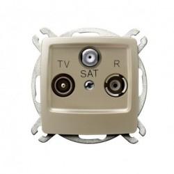 KARO Gniazdo RTV-SAT końcowe, bez ramki, kolor ecru perłowy GPA-SS/m/42