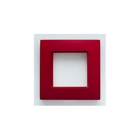 ROSA Ramka poczwórna uniwersalna, kolor bordowy metalik