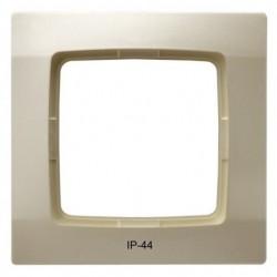 KARO Ramka pojedyncza do łączników IP-44, kolor ecru perłowy RH-1S/42