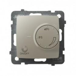 KARO Regulator temperatury z czujnikiem napowietrznym, bez ramki, kolor ecru perłowy RTP-1SN/m/42