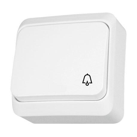 PRIMA Przycisk -dzwonek-, kolor biały WNT101P