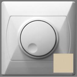 AKCENT Ściemniacz przyciskowo-obrotowy, do obciążenia żarowego i halogenowego, kolor beżowy ŁP-8AB/01