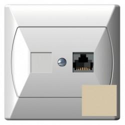 AKCENT Gniazdo komputerowe, pojedyncze, kat. 5e, FOREX, kolor beżowy GPK-1A/F/01