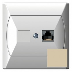 AKCENT Gniazdo komputerowe, pojedyncze, kat. 5e, MMC, kolor beżowy GPK-1A/K/01